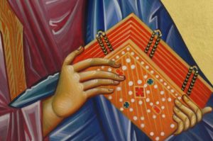 St Mark the Evangelist Hand-Painted Icon Detail