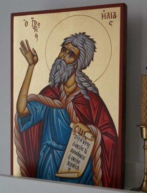 Prophet Elijah (Elias) Hand-Painted Orthodox Icon