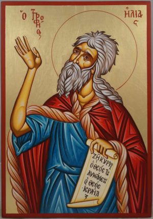 Prophet Elijah (Elias) Hand-Painted Orthodox Icon