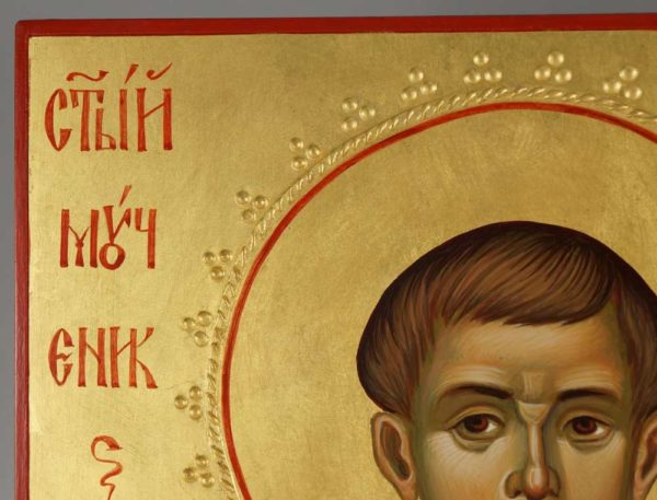 St Yevgeny (Eugene) Rodionov Hand-Painted Russian Icon Detail