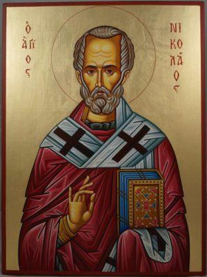 Saint Nicholas of Myra Hand-Painted Orthodox Icon