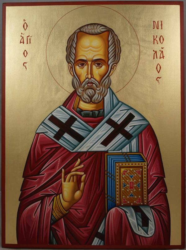 Saint Nicholas of Myra Hand-Painted Orthodox Icon