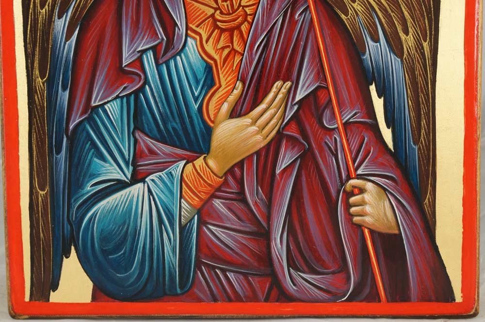 Michael the Archangel Hand-Painted Orthodox Icon on Wood