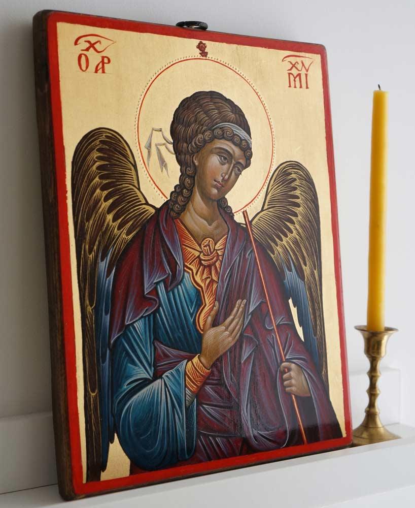 St Archangel Michael (14th c. Hilandar) Hand-Painted Byzantine Icon