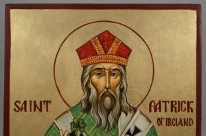 St Patrick of Ireland Hand-Painted Byzantine Icon