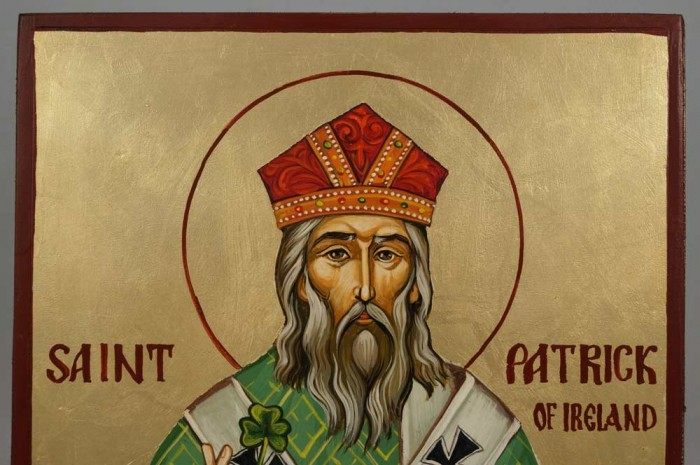 St Patrick of Ireland Hand-Painted Byzantine Icon