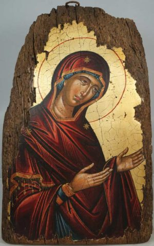 Theotokos Deesis (14th c. Mount Athos) Hand-Painted Byzantine Icon