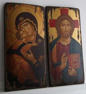 Vladimirskaya Mother of God Hand-Painted Byzantine Icon
