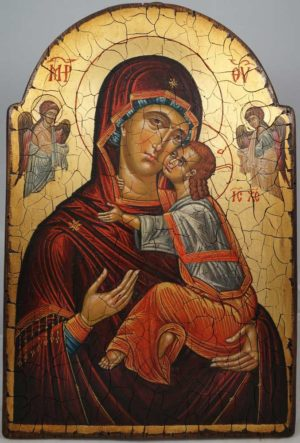 Theotokos Panumnitos Hand-Painted Byzantine Icon