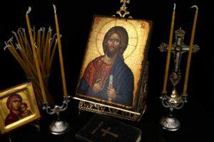 Double Brass Byzantine Candle Holder Candlestick