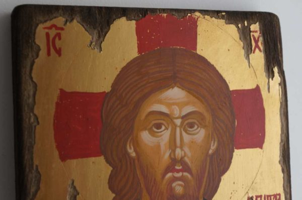 Christ the Merciful Hand-Painted Byzantine Icon