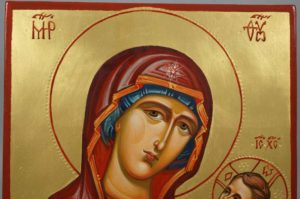 Mother of God Hodegetria Guide Hand-Painted Byzantine Icon