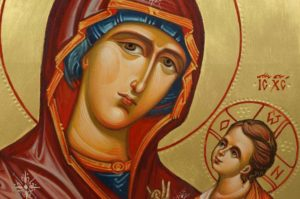 Theotokos Hodegetria (Guide) Hand-Painted Byzantine Icon