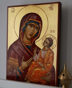 Theotokos Hodegetria (Guide) Hand-Painted Byzantine Icon