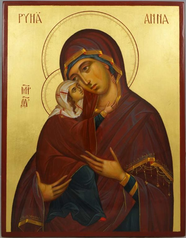 St Anna Anne Hand-Painted Orthodox Icon