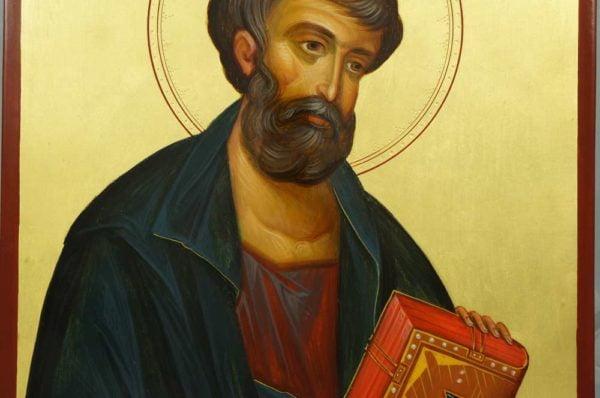 Pyhä Apostoli Markus Hand-Painted Byzantine Icon