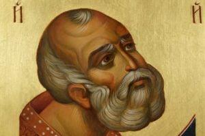 Saint Nicholas Nikolaus Hand-Painted Byzantine Icon Detail