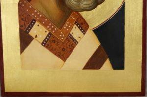 Saint Nicholas Nikolaus Hand-Painted Byzantine Icon