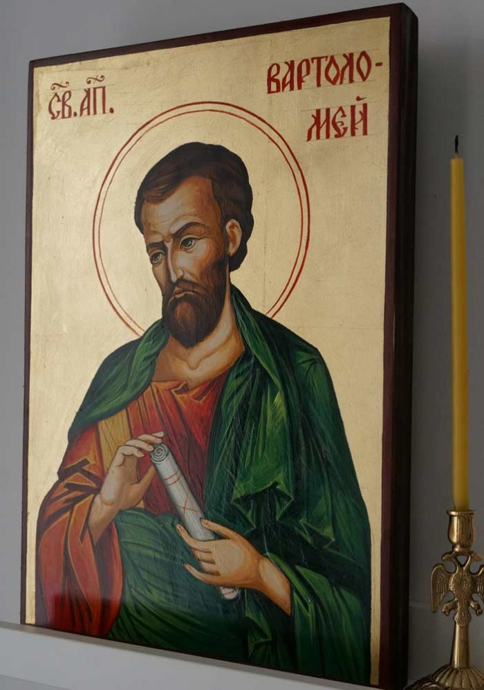 Saint St Apostle Bartholomew Hand Painted Byzantine Icon