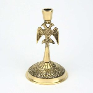 Single Brass Byzantine Candle Stand