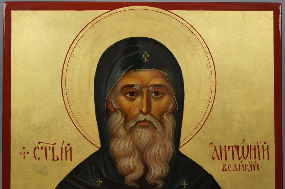 St Anthony the Great Hand-Painted Byzantine Icon