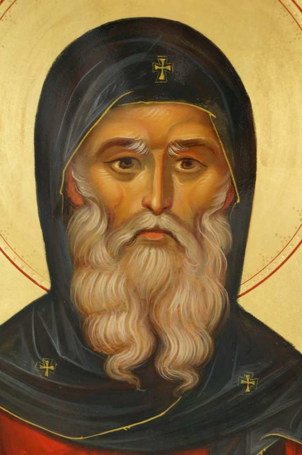 Saint Anthony of Egypt Hand-Painted Byzantine Icon