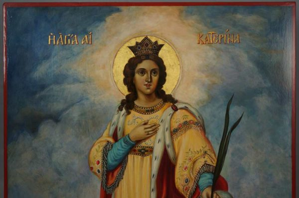 St Catherine of Alexandria Hand-Painted Russian Orthodox Icon