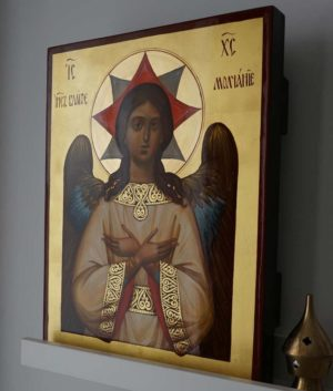 Christ Holy Silence Spas Blagoe Molchanie Hand-Painted Russian Icon Detail