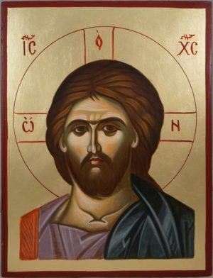 Jesus Christ the Savior Hand-Painted Byzantine Icon