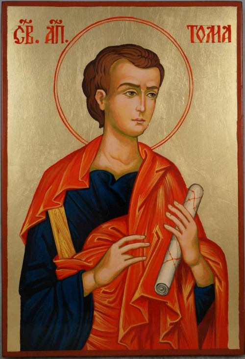 Saint Thomas the Apostle Hand Painted Byzantine Orthodox Icon on Wood
