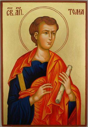 Saint Thomas the Apostle Large Hand Painted Orthodox Icon on Wood