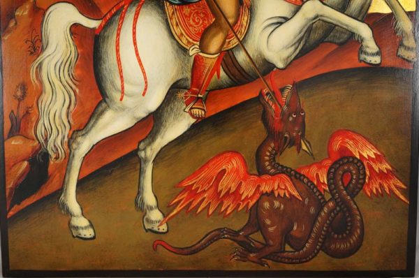 St George on Horseback Hand-Painted Byzantine