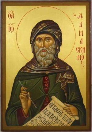 Saint John of Damascus Hand-Painted Byzantine Icon