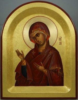 Theotokos Supplicating Hand-Painted Byzantine Icon