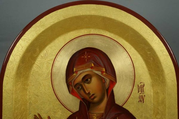 Theotokos Supplicating Hand-Painted Byzantine Icon