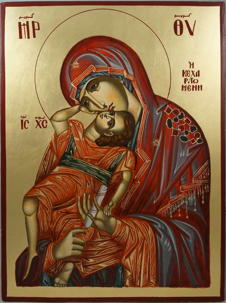 Theotokos Pelagonitissa Hand-Painted Greek Orthodox Icon