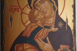 Theotokos of Vladimir (antique style) Hand-Painted Icon