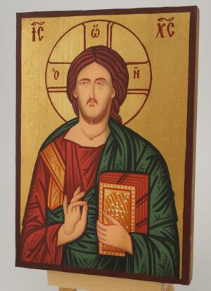 Christ Pantocrator Icon small Hand Painted Byzantine Orthodox