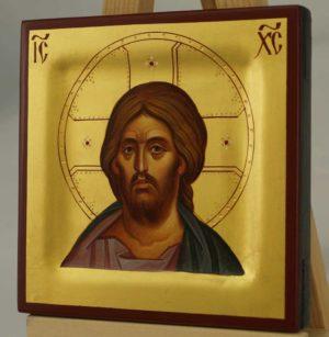 Christ Pantocrator Miniature Hand Painted Byzantine Orthodox Icon