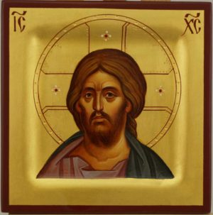 Christ Pantocrator Miniature Hand Painted Byzantine Orthodox Icon