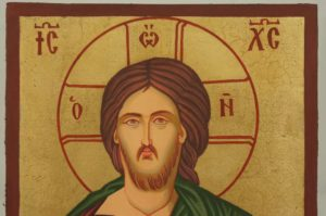 Christ Pantocrator small Hand Painted Orthodox Icon on Wood