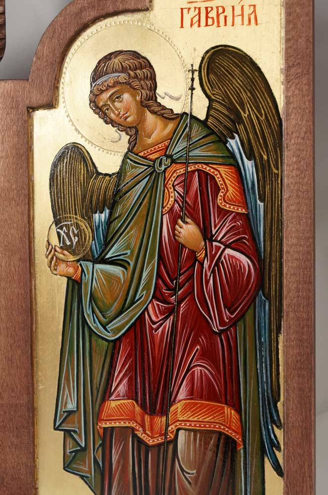 St Archangel Gabriel Hand-Painted Triptych