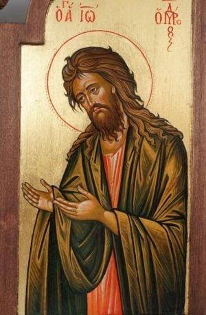 St John the Baptist Hands Raised in Supplication