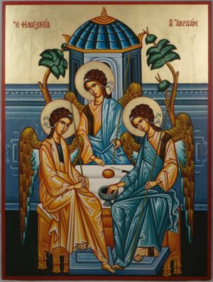 Hospitality of Abraham (Holy Trinity) Hand-Painted Greek Orthodox Icon