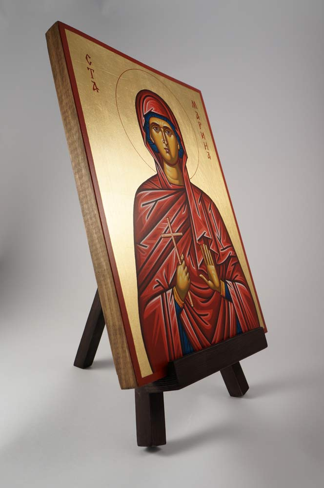 Orthodox Icon Stand Easel Dark Natural Wood