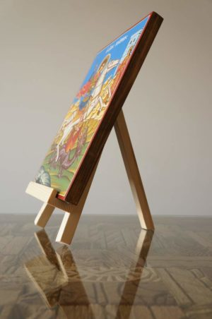 Orthodox Icon Stand Easel Natural Wood