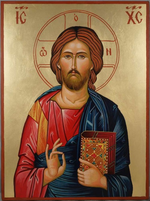 Jesus Christ – Closed Book cm Hand Painted Orthodox Icon on Wood