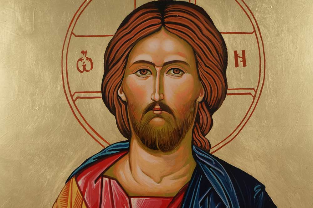 Jesus Christ – Closed Book cm Hand Painted Orthodox Icon on Wood