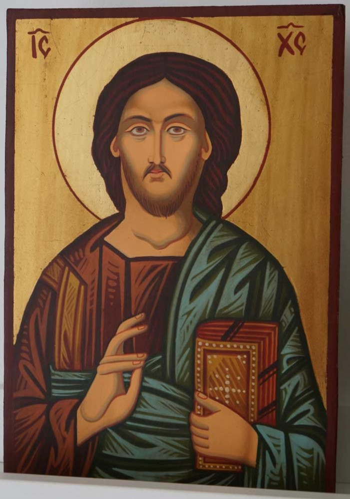 Christ Pantocrator (small) Hand-Painted Orthodox Icon
