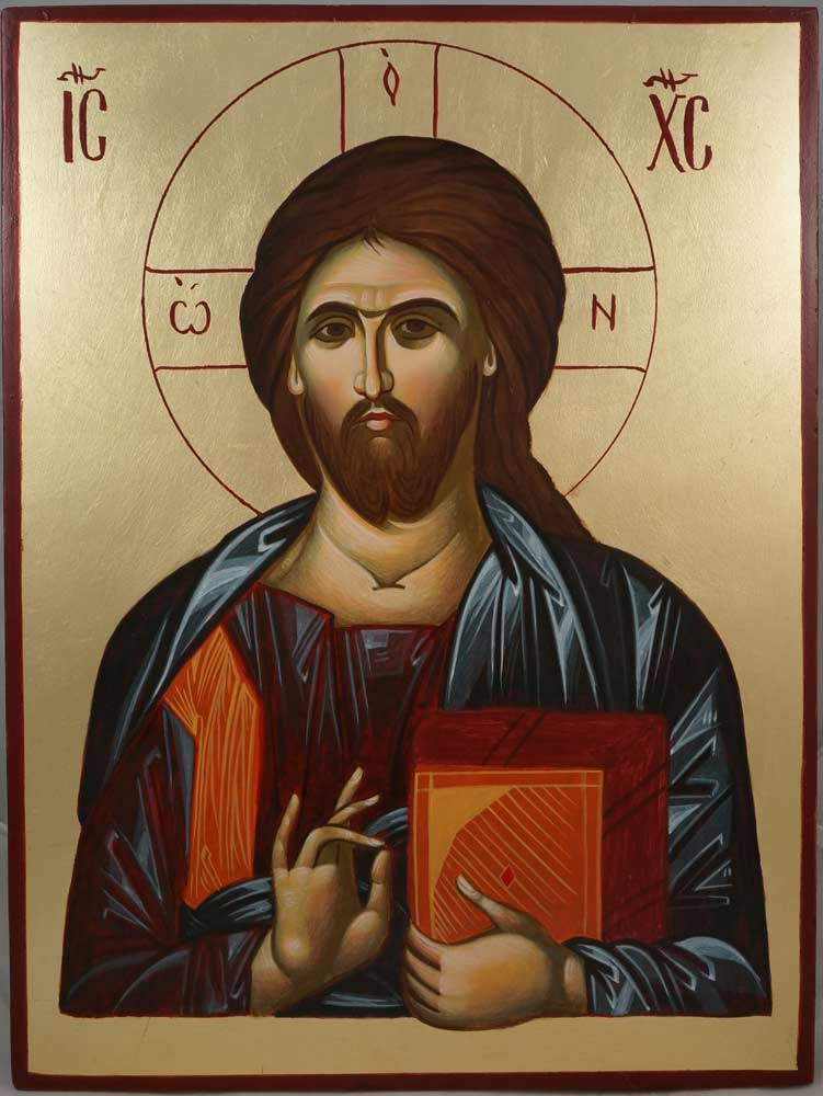 Jesus Christ Ruler of All Hand-Painted Byzantine Icon